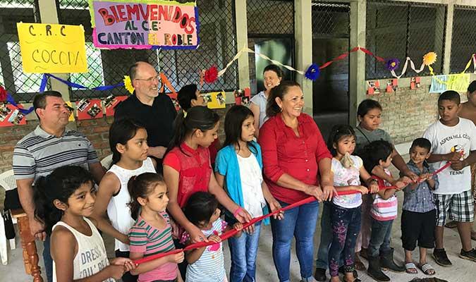 Inauguration of El Roble school - CoCoDA